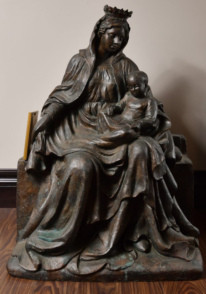 """<strong>Madonna & Child</strong><br>37"""" x 28"""" x 22"""" <br>$7,500<br>Bronze Number B-2"""